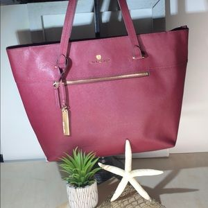 Vince Camuto ~ Burgundy ~ Saffiano  Leather